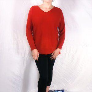 Eileen Fisher hi-lo hem knit sweater